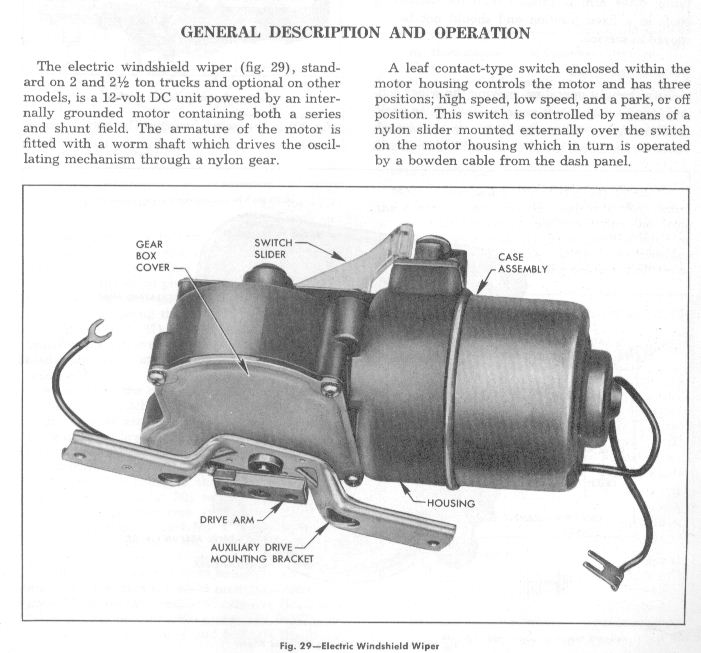 1957 chevy electric wiper motor replacement wiring diagram
