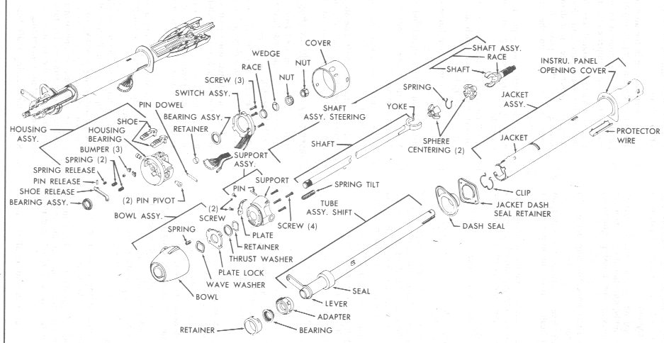 1987 Chevy Truck Steering Column Wiring Diagram on 1961 chevy c10 wiring diagram
